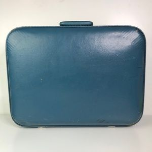 Beautiful blue vintage suitcase